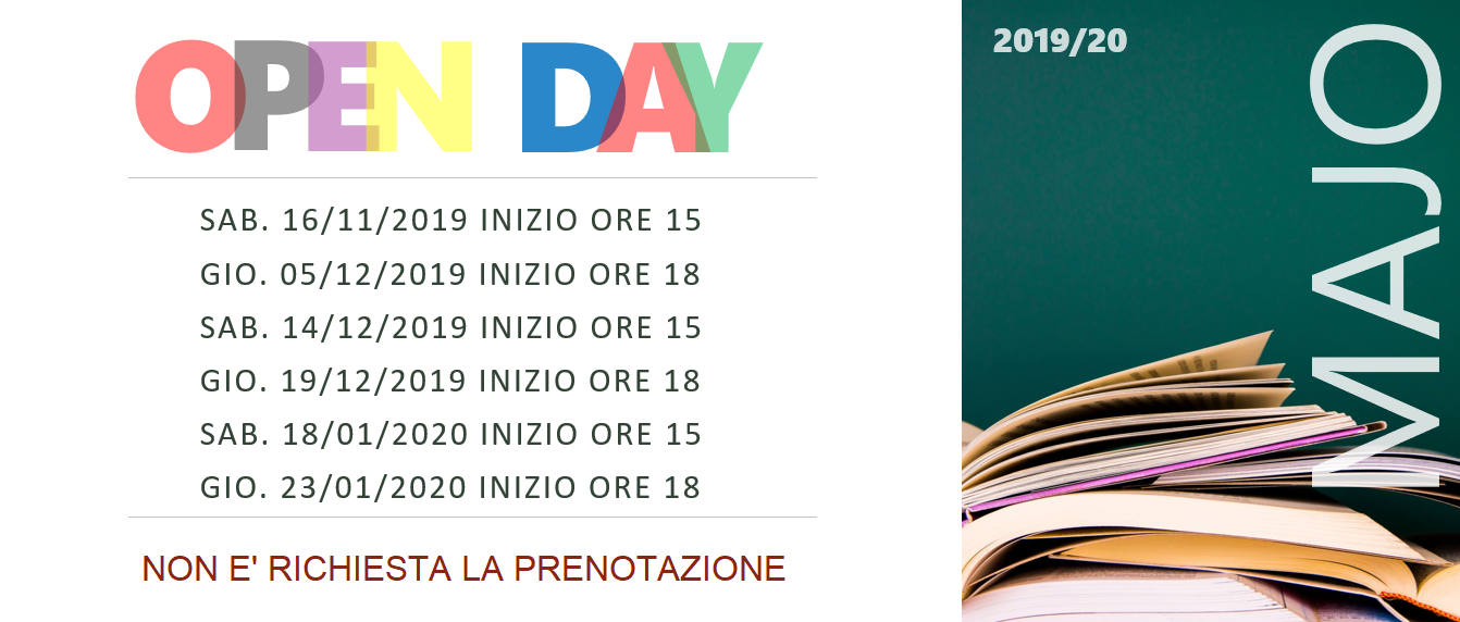 MAJO OPEN DAY 2019